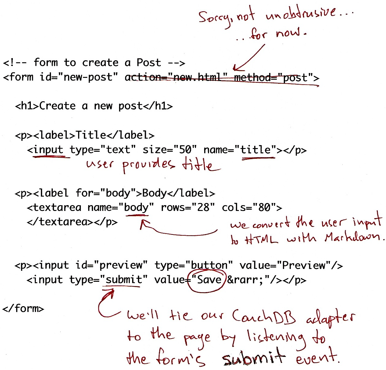 storing documents figure 2 html listing for edit html